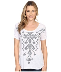 Roper 0231 Poly Slub Jersey Top White Women's Short Sleeve Pullover