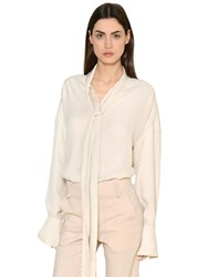 Chloe Silk Crepe Envers And Satin Shirt