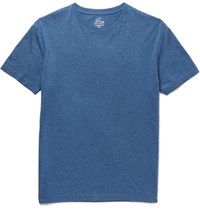 J.Crew Slim Fit Broken In Melange Cotton Jersey T Shirt Blue