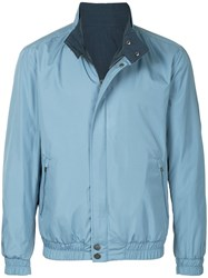Gieves And Hawkes Elasticated Zip Jacket Blue