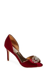 Women's Badgley Mischka 'Seneca' D'orsay Pump Garnet Red Satin