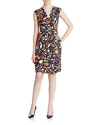 Anne Klein Printed Sheath Dress Multicolor