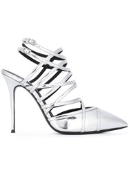 Giuseppe Zanotti Design Caged Stiletto Sandals Metallic