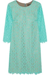 Dkny Lace Mini Dress Blue