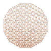 Chilewich Pressed Vinyl Kaleidoscope Round Placemat Pink Champagne