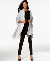 Style And Co. Mini Diamond Jacquard Wrap Only At Macy's Silver