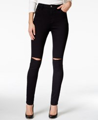 Nanette By Nanette Lepore Gramercy Ripped High Rise Skinny Jeans