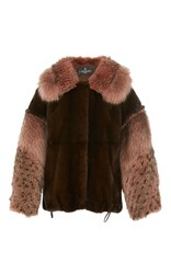 J. Mendel Mink Jacket Brown