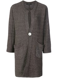 Pas De Calais Long Button Cardigan Grey