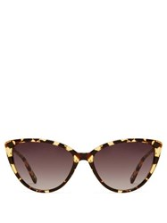 Garrett Leight Mildred 55 Tortoiseshell Effect Acetate Sunglasses Tortoiseshell