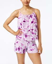 Alfani Printed Tank Top And Boxer Pajama Set Only At Macy's Ivory Florals
