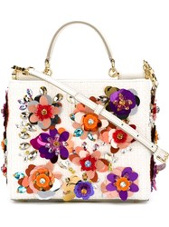 Dolce And Gabbana 'Sicily' Shopping Tote White