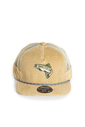 Forever 21 Official Corduroy Mesh Snapback Tan