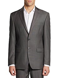 Calvin Klein Classic Fit Wool Jacket Grey Charcoal