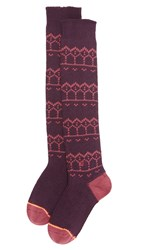 Stance Pattern Socks Plum