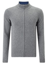 John Lewis Made In Italy Merino Cashmere Zip Neck Jumper Mid Grey
