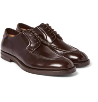 Mccaffrey Adler Leather Derby Shoes Dark Brown