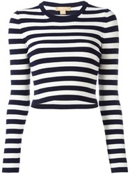 Michael Kors Striped Jumper Blue