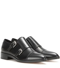 Gianvito Rossi Dover Leather Monk Shoes Black