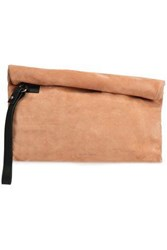 Ann Demeulemeester Woman Leather Trimmed Suede Clutch Blush