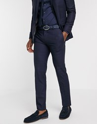 Ben Sherman Navy Plain Slim Fit Suit Trousers