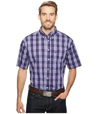 Cinch Short Sleeve Athletic Plaid Purple Men's Clothing