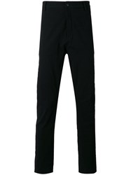 Poeme Bohemien Straight Leg Trousers Black