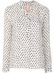 Marc Cain Patterned Blouse Polyester White