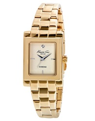 Kenneth Cole Goldtone Stainless Steel Bracelet Watch