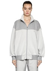 Adidas Originals By Alexander Wang Reversed Zip Up Cotton Sweatshirt