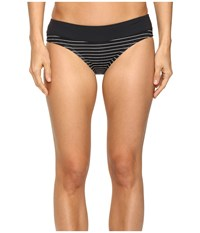 Carve Designs Catalina Bottom Black Aruba Stripe Women's Swimwear