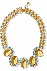 Bounkit Gold Tone Crystal Necklace Gold
