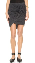 Pam And Gela Asymmetrical Skirt Marled Black
