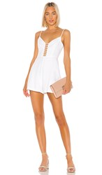 Bcbgeneration Ladder Front Romper In White. Optic White