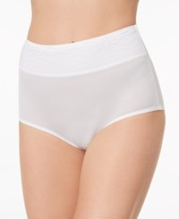 Warner's No Pinching No Problems Lace Waist Brief Rs7401p White