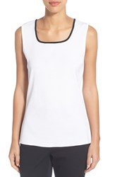 Women's Ming Wang Tipped Square Neck Tank