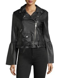 Bagatelle Vegan Leather Biker Jacket Black