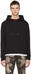 Gucci Black Cable Knit Trim Hoodie