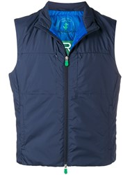 Save The Duck Short Padded Waistcoat Blue
