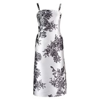 By Sun Floral Fitted Dress White