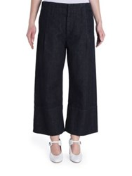 Marni Wide Leg Denim Trousers Dark Blue