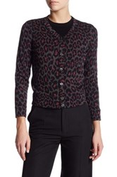 Marc By Marc Jacobs Leopard Wool Blend Cardigan Multi