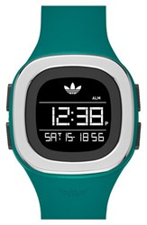 Men's Adidas Originals 'Denver' Digital Silicone Strap Watch 42Mm