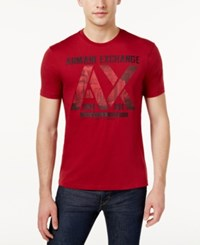 Armani Exchange Men's Graphic Print T Shirt Rhubarb
