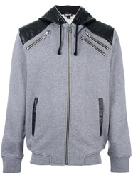 Just Cavalli Zip Up Hoodie Grey