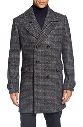 Ted Baker Men's London Glen Plaid Double Breasted Coat