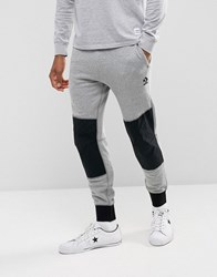 Converse Mesh Rib Panel Joggers In Grey 10003612 A01