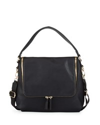 Neiman Marcus Hip Zip Hobo Bag Black