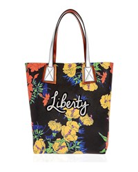 Liberty London Rq Phlox Merton Floral Tote Bag Yellow Pattern