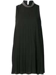 Dondup Short Pleated Dress Black